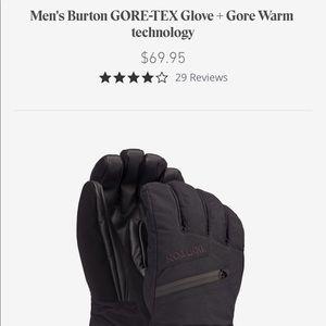 Burton's Men's Gore Tex Winter Insulated Gloves